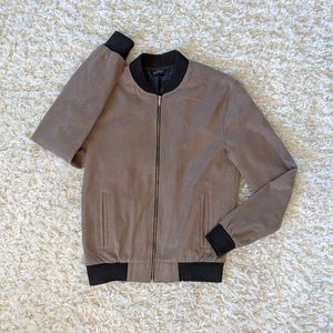 ZARA Man Brown/Black Varsity Jacket Size Medium